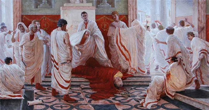Убийство Цезаря в Сенате.